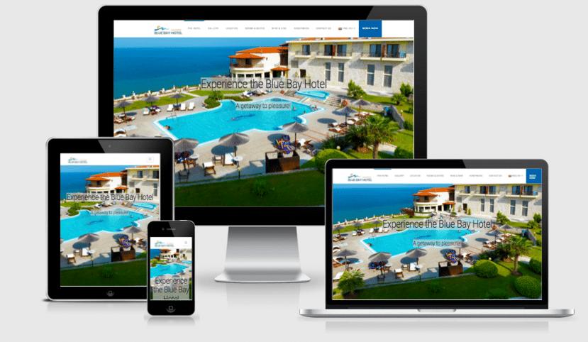 Ανασχεδιασμός ιστοσελίδας ξενοδοχείου BlueBay